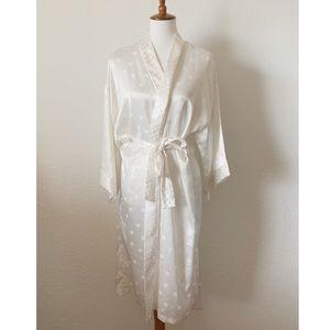 Vintage Victoria's Secret Bridal Polka Dot Robe